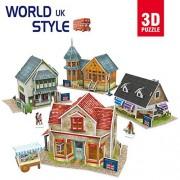 CubicFun-World Architectural House Building Model Kits 3D Puzzle,UK,W3186h 171 Pieces