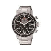 Citizen Men's Eco Drive Chronograph Black & Silver Stainless-Steel Watch CA0641-83E