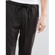 Pull&Bear Cropped Jogger In Black - Black