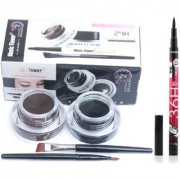 musiic flower gel eyeliner with pencil eyelinere (black brown)