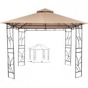 Metalna gazebo tenda Panama sa duplim krovom