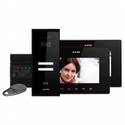 Kit videointerfon Electra Touch Line Extra VKE.P2SR.T7S9.ELB04, 2 familii, aparent, 7 inch