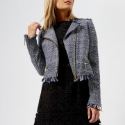 MICHAEL MICHAEL KORS Women's Tweed Jacket - True Navy - US 2/UK 6 - Blue