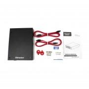 Ranura Dual HDD Metal Caso Recinto HDD Para 7-9.5mm Disco Duro SSD SATA De 2,5 Pulgadas De Color Negro