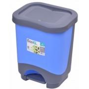 Cos de gunoi EKO 8 l cu galeata si maner albastru