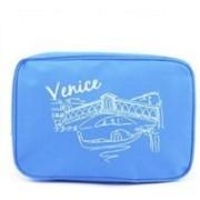 Hiren Paris VENIC COSMETIC POUCH Travel Toiletry Kit(Blue)
