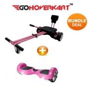 "Hoverkart and 6.5"" Hoverboard California Pink Bundle (GoCruiser)"