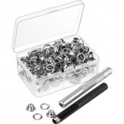 DIY Crafts Grommet Eyelets with Storage Box 1/4 inch Inside Diameter(Pack of 154 Pcs)