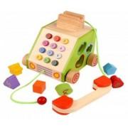 Telefon sortator din lemn