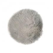 W.F. GÖZZE Frottierweberei GmbH Gözze Schaffell-Stuhlauflage, Runde Stuhlauflage in aktuellen trendigen Farben, Farbe: silber