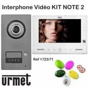 URMET Interphone video URMET KIT NOTE 2 mains libre - Contrôle d'accès - URMET 1723/71