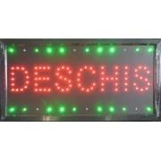 Reclama LED - DESCHIS - afisaj rosu si verde