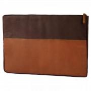 Lucleon Oxford Braune & Hellbraune Leder Laptophülle