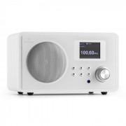 IR-150 Internet-Radio UKW DLNA WLAN Retrò Telecomando Legno Bianco