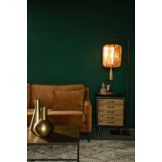Dutchbone Suoni Vloerlamp - B30xD32xH157 Cm - Gouden Lampenkap