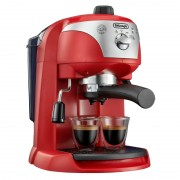 Espressor cu pompa DeLonghi EC221, 1100 W, 1 l, 15 bar, dispozitiv spumare, sistem cappuccino, oprire automata, Rosu