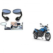 Kunjzone Premium Quality Motorycle Bar End Mirror Rear View Mirror Oval for Honda CB Unicorn