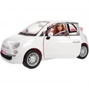 Mattel barbie fiat 500 con dettagli realistici bambola inclusa , fvr07
