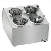 Bartscher Cutlery holder - 4 cylinders - CNS 18/8
