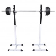vidaXL Squat Barbell Rack Set