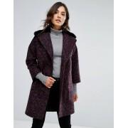 Helene Berman Пальто из ткани с добавлением шерсти с воротником из искусственного ме