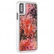 CaseMate Glow Waterfall Case - дизайнерски кейс с висока защита за Apple iPhone X (розов)