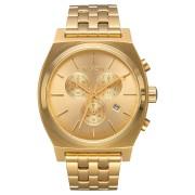 Nixon Time Teller Chrono Watch All Gold