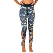 icyzone Leggings de running para mujer con corbata, ajustados, para yoga, jogger, entrenamiento, medias, Loto, S