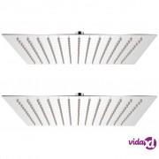 vidaXL Glava za tuš od nehrđajućeg čelika 2 kom 30 x 30 cm