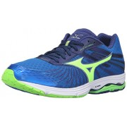 Mizuno Men's Wave Sayonara 4 Running Shoe, Skydiver/Black/Green Gecko, 9 D US