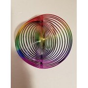 Spring Garden Spiral Rainbow Circular Wind Chimes Cute Decoration Decor Home Decorations by JHB