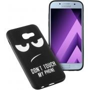 MP Case zwart back cover met motiv voor Samsung Galaxy A3 2017 / 2017 Duos Achterkant/backcover
