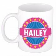 Bellatio Decorations Hailey naam koffie mok / beker 300 ml - Naam mokken