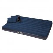 Intex colchón inflable intex queen size con almohada y bomba manual