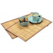 Kesper Obdélné bambusové prostírání, sada dvou stylových a odolných stolních rohoží