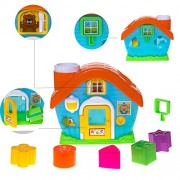Baybee Smart Shapes Sorting Baby Playhouse - Baby Toy House ,Kids Toy House with Shape Sorter 1 2 & 3 Year Olds