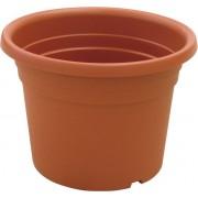 ics R80070 Vaso Tondo In Plastica Per Piante Fiori Da Esterno Giardino Ø Cm. 70x50 H Colore Terracotta - Dahlia - R80070
