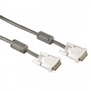 AV Kabl DVI (muški) na DVI (muški) 1.8 M, sa filterom protiv šuma, srebrni, HAMA 45077