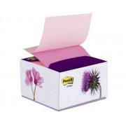 DISPENSER DECO Z-NOTES POST-IT PT. NOTES AUTOADEZIV 76X76 mm, roz pastel/roz neon Cub notes cu suport 76x76 mm asortate