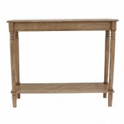 Decor Therapy Sahara Brown Oak Rectangular Console Table, Sahara oak