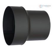 Vastagfalú acél kazán és kályha füstcső bővítő, 180 mm átmérőről 200 mm-re