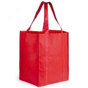 Geen Boodschappen tas/shopper rood 38 cm