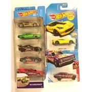 Die Cast Vehicle 2018 Hot Wheels 5 Pack Hw Horsepower & Bonus: Flames '68 Chevy Nova 50Th Anniversary 2017 Factory Fresh Corvette C7 Z06 Yellow