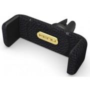 Suport auto telefon KENU Airframe+ Leather, pentru telefoane pana la 6 inch, prindere de orificiul de aerisire (Negru)