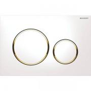 Geberit Sigma20 bedieningsplaat kleuren:plaat ring knop wit goud wit 115882kk1