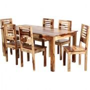 Harshita Handicraft's 6 seater sheesham wood dinihng set