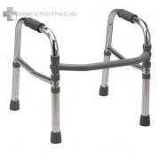 4263II Alumínium összecsukható, állítható magasságú járókeret 100 kg-ig