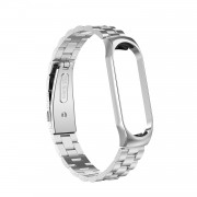 Three Beads Stainless Steel Watch Strap for Xiaomi Mi Smart Band 4/Mi Band 3 - Silver