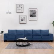 vidaXL 5-местен диван, син, текстил