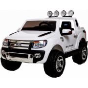 Masinuta electrica Premier Ford Ranger 12V roti cauciuc EVA scaun piele ecologica alb
